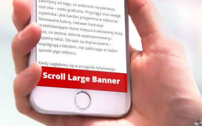 Scroll large banner