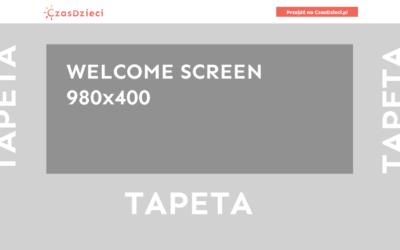 Welcome screen na tapecie
